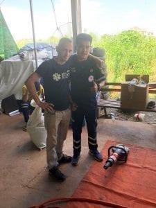 Sebastien with Vientiane Crew Member